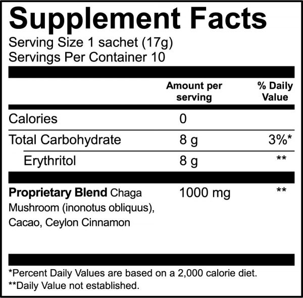 Chagaccino supplement facts